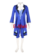Black Butler Cosplay Costumes Ciel uniforms suit 18 generations blue Long coats Halloween Costume