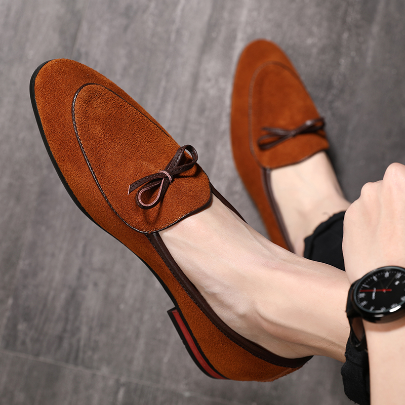 2019 Classic Gentleman   Leather   Shoes Italian Style Tassel   Suede   Fashion Designer Casual Pointed Toe   Leather   Shoes Big Size 37-48