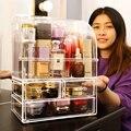Grandes botellas de perfume a prueba de polvo caja de almacenamiento de maquillaje botellas de perfume de plástico a prueba de polvo cosméticos organizador de maquillaje caja C5062