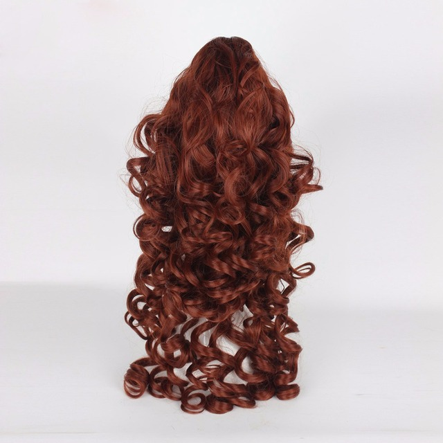 Disney Beauty and The Beast Princess Belle Cosplay Wigs Women Female Anime Costume Party 60cm Curly Wavy Synthetic Hair Brown 3