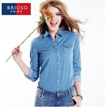 Explosion spring/summer 2015 joker's classic women's denim shirt long sleeve shirt, ladies fashion leisure big yards of coat