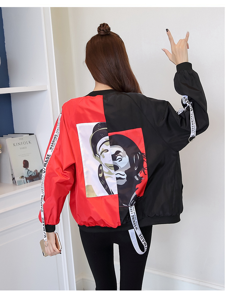 HTB1KFHpbRCw3KVjSZR0q6zcUpXa1 Jackets Women 2018 New Women's Basic Jacket Fashion Thin Girl Windbreaker Outwear Bomber Female Baseball Women Men Coat