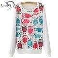 Women Owl Print Hoodies 2016 Casual Owl Hoodies Pullover Harajuku Sweatshirts Autumn And Winter Hoody Casual Tracksuits Hoodies