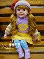 50 CM menina boneca reborn interativo Inteligente falando boneca princesa menina boneca de vinil brinquedos presente das crianças