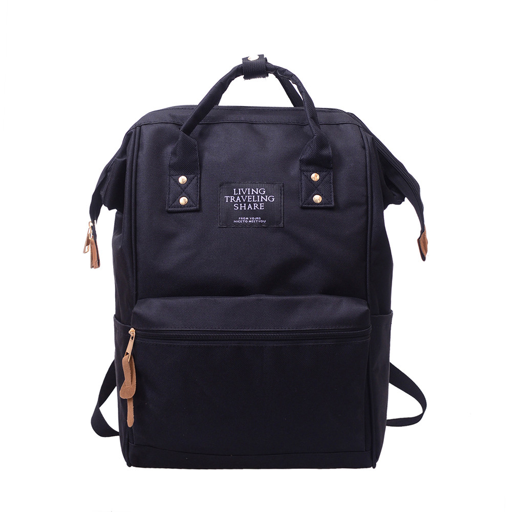 High Quality Backpack Living Travelling Share Unisex Solid Backpack School Travel Bag Double Shoulder Bag Zipper Bag 2018 High Quality Backpack Living Travelling Share Unisex Solid Backpack School Travel Bag Double Shoulder Bag Zipper Bag 2018