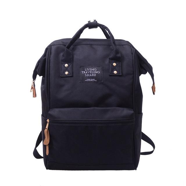 da385abd923bf Wysokiej Jakości Plecak Dzienny Podróżowanie Akcji Unisex Solidna Plecak  Szkolny Torba Podróżna Dwukrotnie Shoulder Bag Zipper