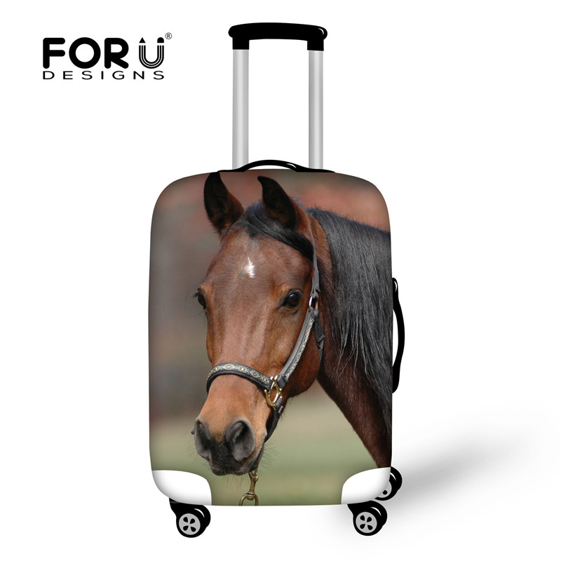 FORUDESIGNS Travel Accessories Crazy Horse Luggage Cover,Elastic Suitcase Protective Covers For 18-32 Inch Trolley Case Stretch