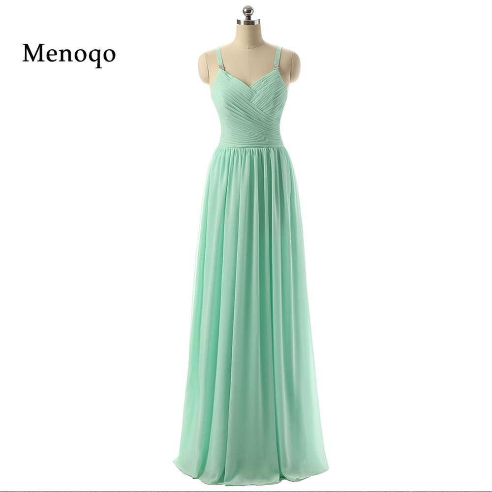 2019 new style fashion elegant chiffon spaghetti straps pleated custom made real   Bridesmaid     Dress   gown long plus size DB22002