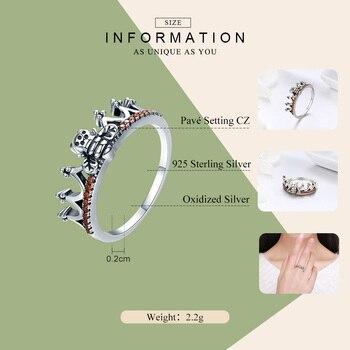 100% 925 Sterling Silver Bee in Princess Crown Ring 1
