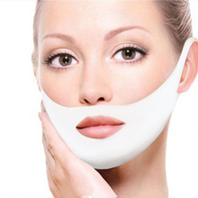 Hydrogel 4D Double V Face Shape Lifting Mask Reduce Chin Cheek Lift Thin Face-Lifting Ear Hanging Anti Winkle Firming