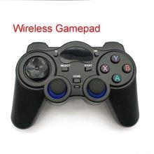 Controle wireless de joypad, gamepad com micro usb e adaptador conversor otg para android, tablets, pc, caixa de tv, 2.4ghz