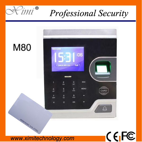 The 2.8-inch color screen m80 has biometric fingerprint access control and time sheet and ID card reader access control biometric fingerprint access controller tcp ip fingerprint door access control reader