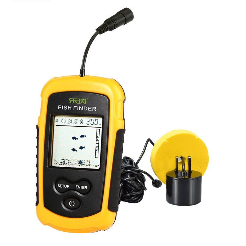 LUCKY FFW1108 - 1 Fish Finder Portable Wireless Sonar Sensor Transducer Detector For Outdoor Fishing
