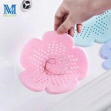 Meltset 1 шт. вишневый цвет кухонный канализационный фильтр для раковины слив волос дуршлаги сетка для удаления остатков волос инструменты для уборки ванной комнаты