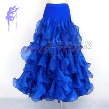 New style Ballroom dance costumes sexy spandex crimping ballroom dance skirt for women ballroom dance skirts S-4XL LBR-95