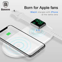 Baseus 2 in 1 Qi Wireless Charger For Apple Watch iPhone XS Max X 8 Samsung S10 10W 3.0 Fast Quick Charging Pad For i Watch4 3 2