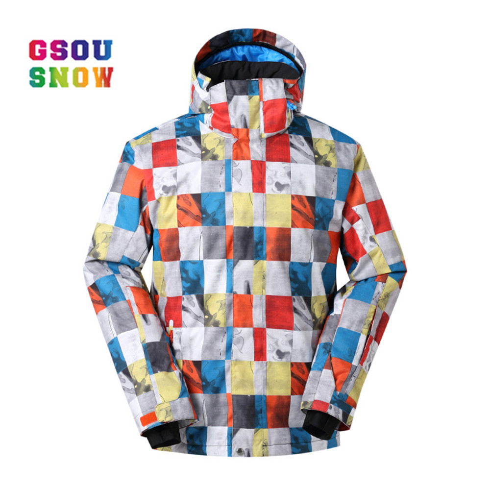GSOU SNOW Brand Men Ski Jackets Windproof Waterproof Snowboard Jacket Men Outdoor Winter Breathable Sportswear High Quality winter men jacket new brand high quality candy color warmth mens jackets and coats thick parka men outwear xxxl