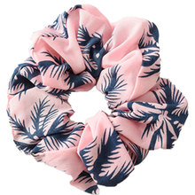Wild hair band female striped wild color large intestine ring elastic rope  Hair Accessories Coconut Tree