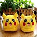 Zapatillas pokemon Anime Adultos Deslizador de Interior Casa de Invierno Zapatos Calientes de Algodón de Dibujos Animados Pokemon Pikachu Totoro Minions Zapatillas