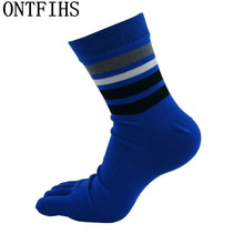 5pairs/lot Four Seasons Men Socks High-top Cotton Five Finger Toe Breathable Warm Absorb Sweat  Boy Elasticity Sock WZ116