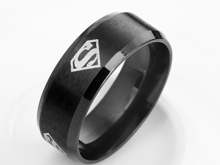Superman ring titanium stainless steel Men Ring Superman Logo Finger Rings 3 Colors Fashion RING Free shipping ...