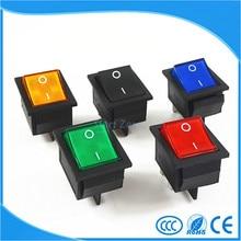 Engatamento Rocker Interruptor Interruptor I/O 4 Pinos Com Luz 16A 250VAC 20A 125VAC KCD4