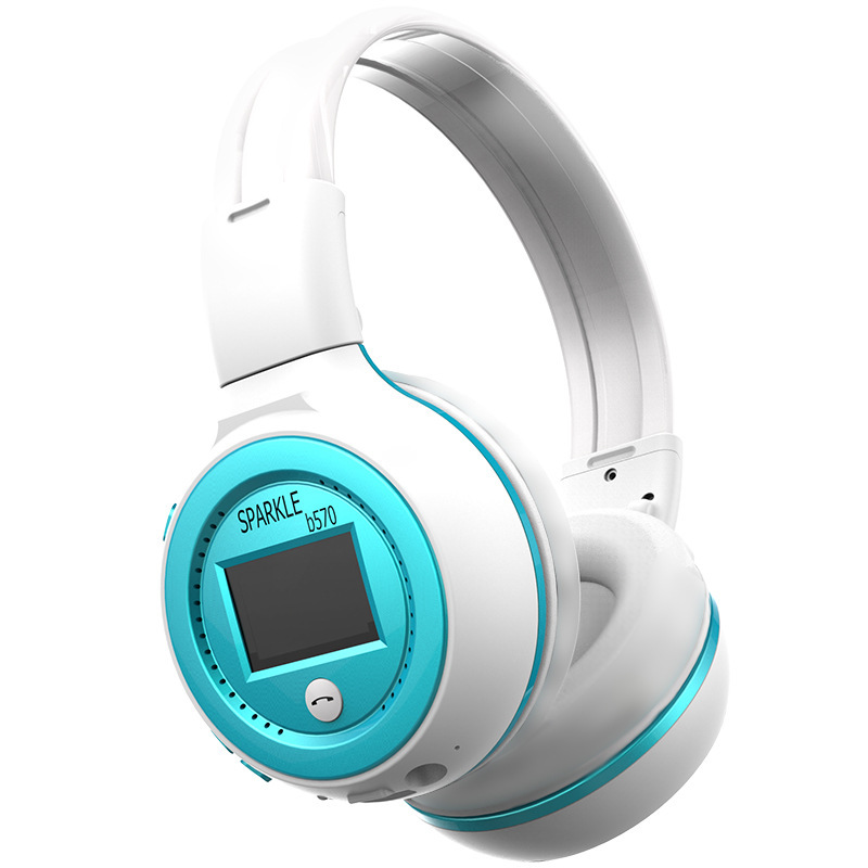 Zealot MP3 Digital Wireless  bluetooth  Headphone FM SD Stereo Music Player Sd Card Slot headsets with LCD Display USB Cable
