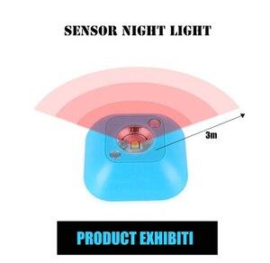Image 3 - Coquimbo lampe murale magnétique à double Induction infrarouge PIR LED, éclairage de nuit magnétique, éclairage de placard, escaliers