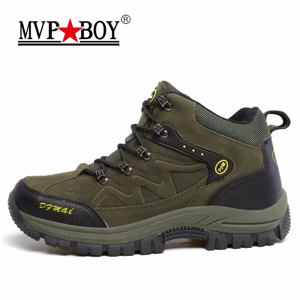 MVPBOY Men's Hiking Shoes Plush Winter Boots Outdoor Sneakers Mountain Climbing Sports Shoes Women Outdoor Shoes Hunting Fishing носки горнолыжные мужские merinofusion winter sports all mountain brid