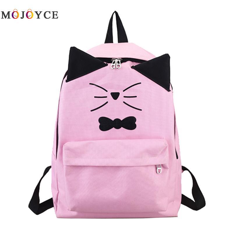 Cute Cat Shape Design Students School Back Pack For Teenagers Girls Pu Leather Backpacks Female Mochila Feminina
