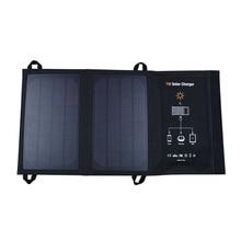 цена на Wama 7W Portable Waterproof 5V Solar Panels USB Ports Charger Power Bank