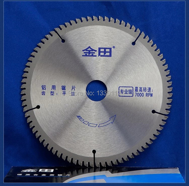 "1pcs 7"" inches 180*80T*25.4 circular saw blade 7 cutting aluminum alloy PVC density board plastic steel profile"