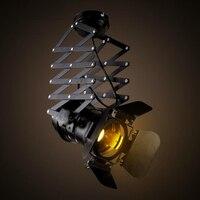 วินเทจนำโคมไฟเพดานความสูงปรับสำหรับบาร์คาเฟ่ร้านโคมไฟเพดานอุตสาหกรรมplafondlamp