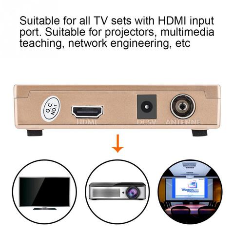 RF to HDMI Converter Analog TV Receiver Adapter Digital Converter Box with Remote Control for Projectors Network Engineering Islamabad