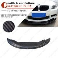 Car Accessories Carbon Fiber GTS II Style Front Lip 2pcs Fit For 2007-2011 E90 E92 E93 M3 Front Bumper Splitter Lip