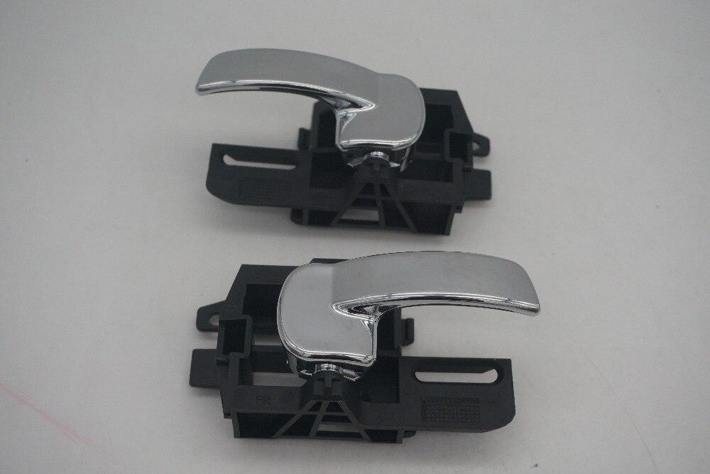 80671-JD00E 80670-JD00E FOR NISSAN QASHQAI J10 (04-13)  DOOR HAND INSIDE LEFT RIGHT INTERNAL HANDLE SET CHROME