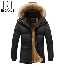 2017 zima mężczyźni dół i parki wyściełane kurtki z bawełny męskie Casual dół kurtki ocieplane płaszcze płaszcz ciepłe ubrania duże 5XL X579