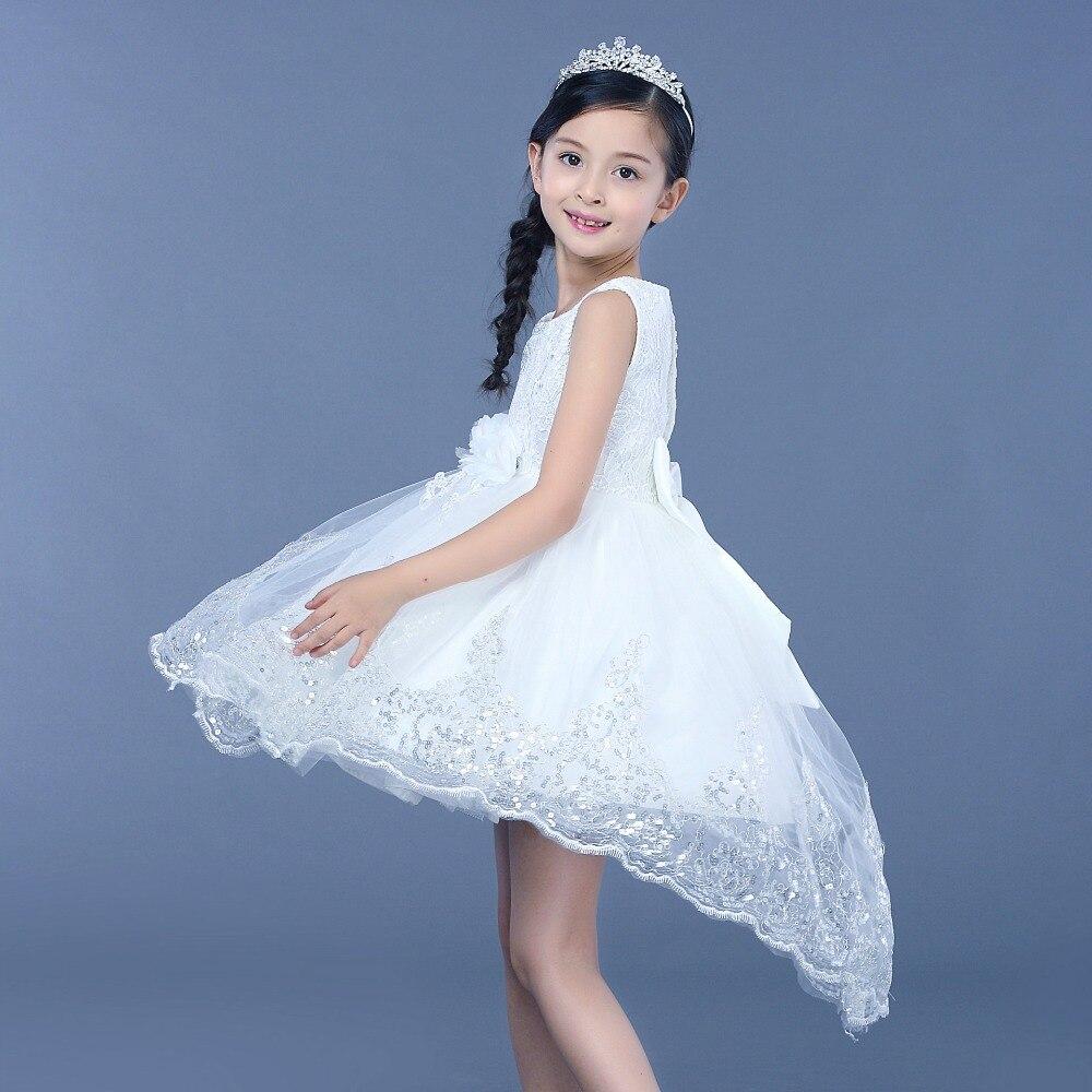 Lesvago princess girl dress kid Girl full sleeves Wedding Dresses ...