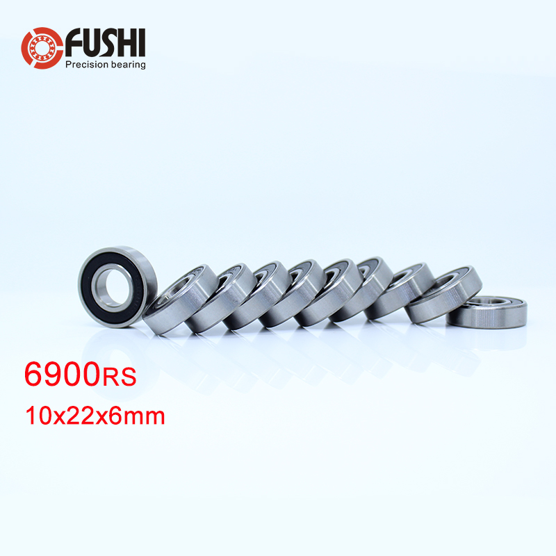 Metal Rubber Ball Bearing Bearings BLACK 6901RS 5 PCS 6901-2RS 12x24x6 mm