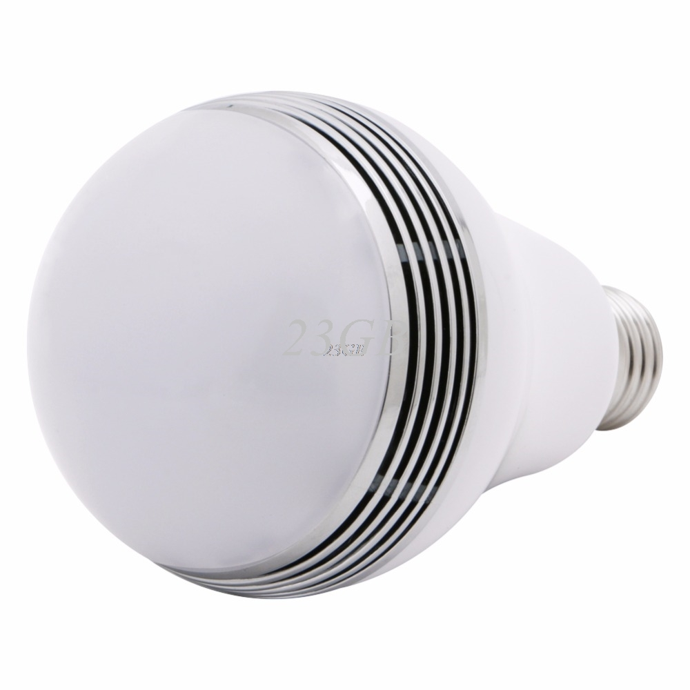 LED RGB Bulb Lamp APP Remote Control E27 Speaker Bluetooth 4.0 Music LED Light MAY04_25 rgb 10w led bulb e27 e14 ac85 265v led lamp with remote control led lighting multiple colour