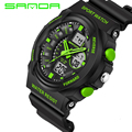 2016 New Brand Watch Shock Military Sport Watches For Men PU Watch Strap Waterproof Dual Time Digital-Watch relojes hombre