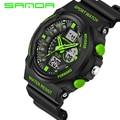 2016 Nuevo Reloj de la Marca Militar Relojes Deportivos Para Los Hombres de LA PU Correa de Reloj A Prueba de agua Dual Time Digital-Reloj relojes hombre
