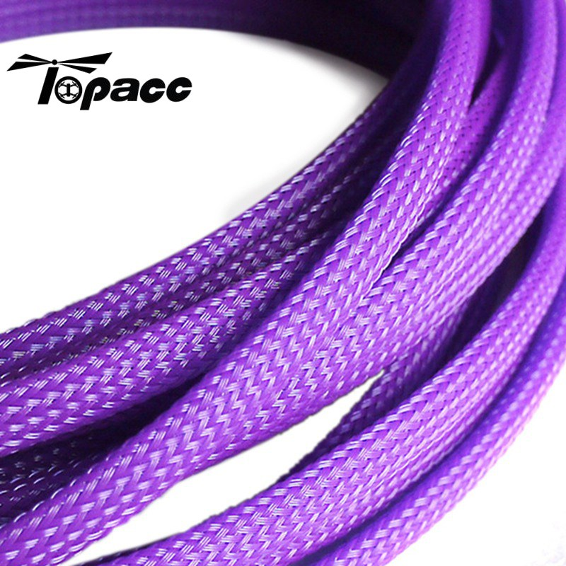 High Quality 6mm Snakeskin Net Braided Protection Rope Cute Net Rope Protection Cable For Brushless ESC 5M