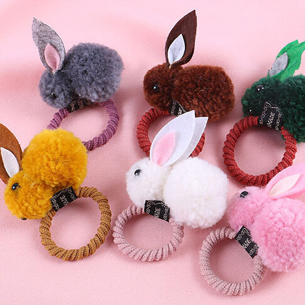 Baby Hair Accessories 1St Birthday Kids Infant Baby Girls 3D Rabbit Cartoon Hair Band Hairpin Rubber Band   Headwear   Wholesale @5