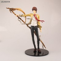 18cm Death Note Killer Yagami Light Scepter Fighting Ver Model PVC Japanese Anime Action Figure Decoration Kids Gift Doll New