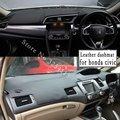 Для Honda Civic Sedan 2006-2018 кожаный чехол для приборной панели автомобиля коврик для приборной панели коврик от солнца под заказ 2011 2012 2015 2016 RHD