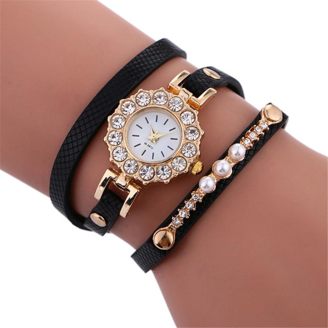 Ladies Fashion Watches Crystal Luxury Watches Women 2018 Gold Bracelet Watch Fem