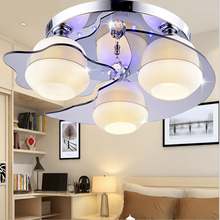 LED ceiling lamp bedroom living room crystal  modern simple warm and romantic dining