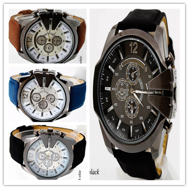 Mens Watches NORTH Brand Luxury Casual Military Quartz Sports Wristwatch Leather Strap Male Clock watch