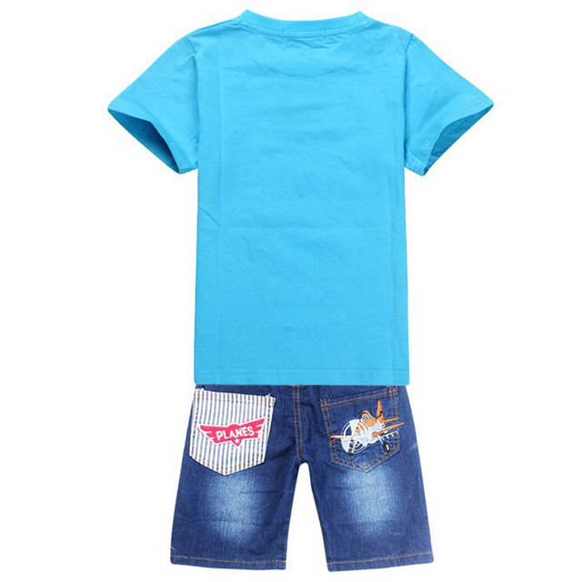 619e63431 New 2018 Retail Children Set Cartoon DUSTY PLANE fashion suit boys jeans sets  t shirt+pant 2pcs Kids Clothing-in Clothing Sets from Mother & Kids on ...